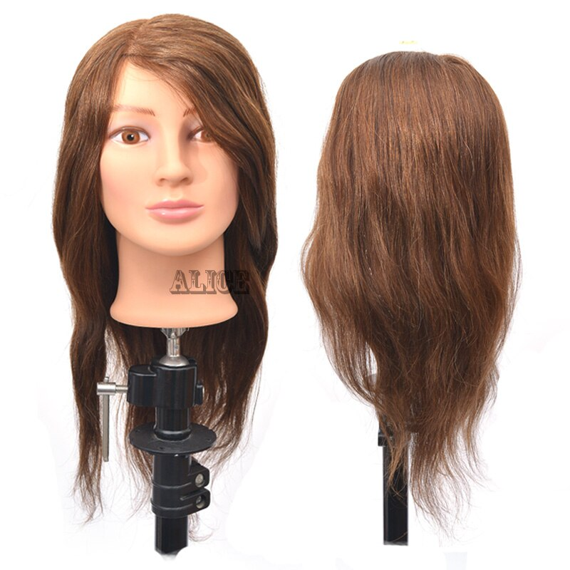 Cosmetology Mannequin Head 100 Human Hair 18 Inches Hairdressing Training Heads Styling Head Female Mannequin Heads For Sale