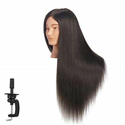 Cosmetology Mannequin Head Human Hair Hairdresser Training Super Long 26-28 New