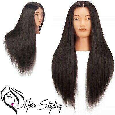 Mannequin Training Head Realistic Human Hair Hairdresser Haircut Doll Model