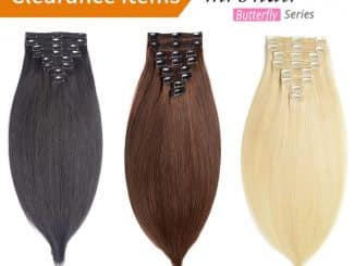 Human Hair Clip In Extensions 20