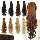 Synthetic Clip In Pony Tail Hair Extensions Claw On Ponytail As Human Hair Piece