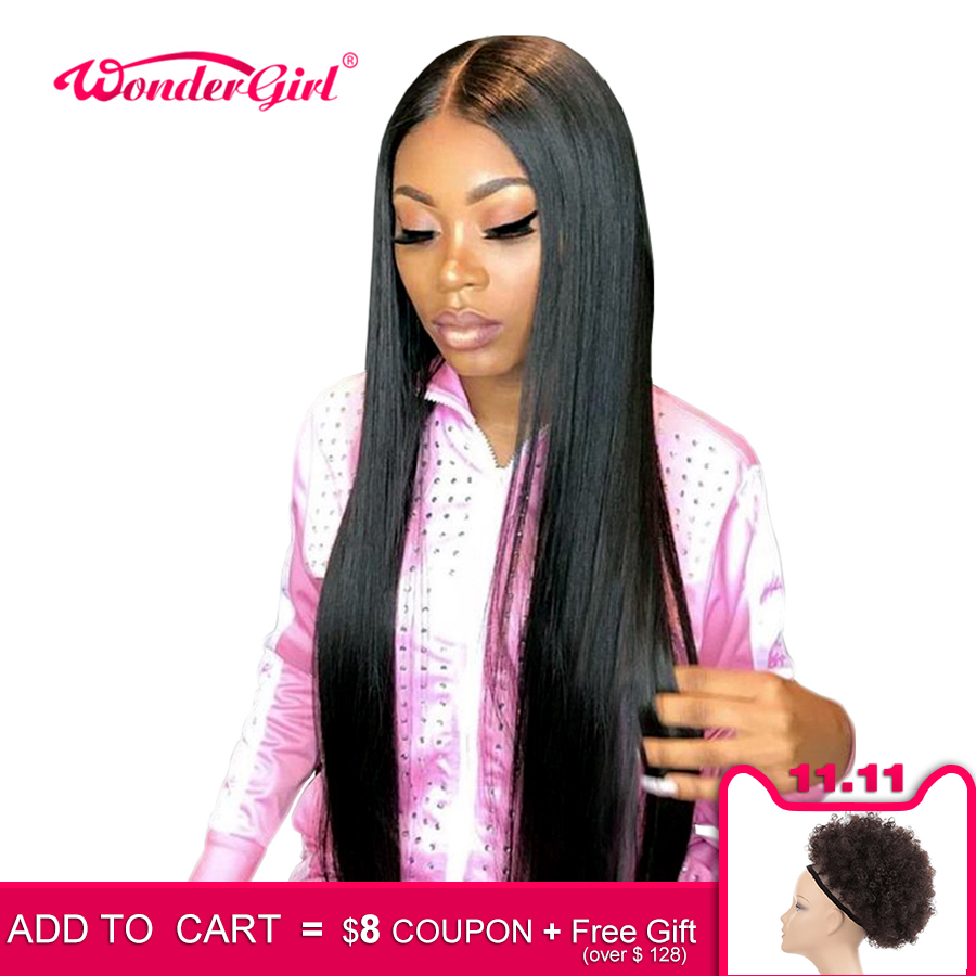 Wonder girl 13x6 Straight Lace Front Human Hair Wigs Remy 360 Lace Frontal Wig Pre Plucked 13x4Brazilian Straight Lace Front Wig