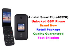 Unlocked GSM AT&T Alcatel SmartFlip(4052R) Basic Phone 4G LTE Wi-Fi 4GB T-Mobile